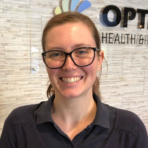 Jessica Arnold Physiotherapist Optimum
